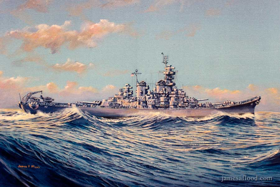 USS New Jersey (Side View)