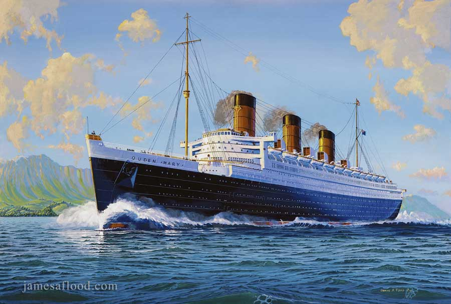 Queen Mary 1936 Sea Trials, Arran Mile
