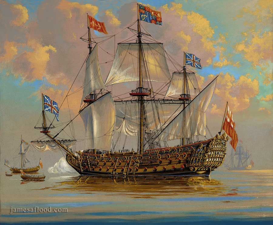 The Royal Charles, flagship to King Charles II