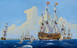 Spanish Treasure Fleet Departing Havana, July 1715